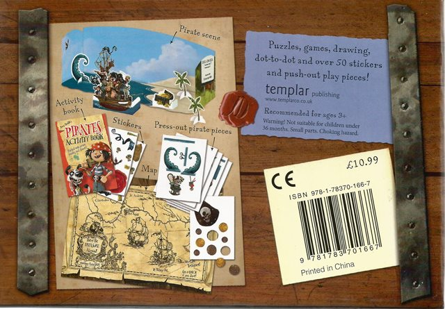Back cover of Jonny Duddle's Pirate Treasure Chest by Jonny Duddle