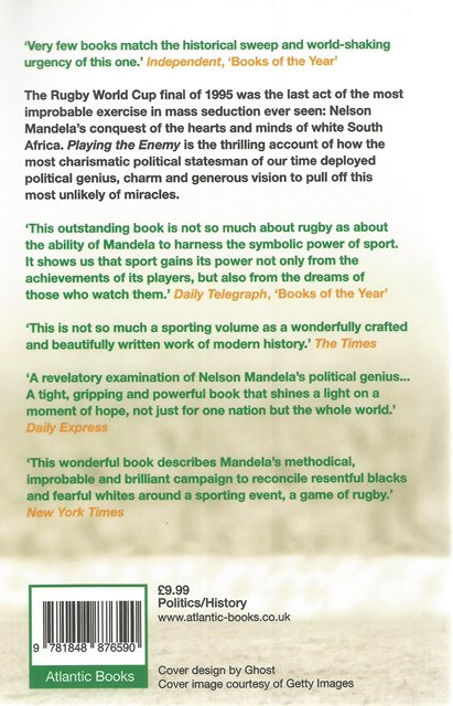 Back Cover of Playing the Enemy by John Carlin