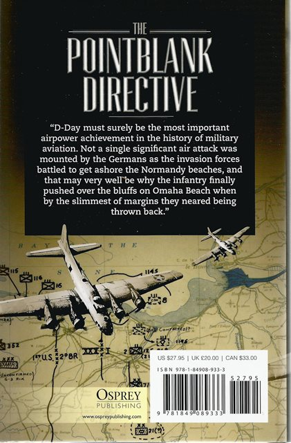 Back cover of The Pointblank Directive by L Douglas Keeney