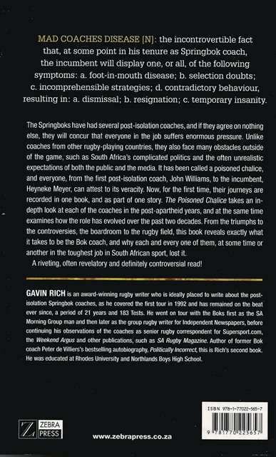 Back cover of The Poisoned Chalice by Gavin Rich