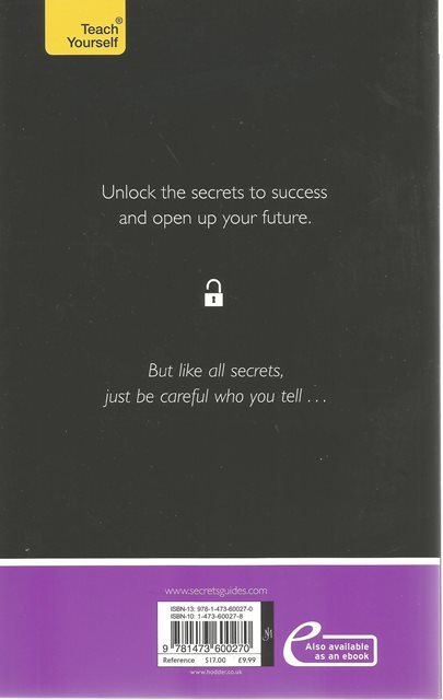 Back cover of Secrets of Confident Communicators by Diana Mather