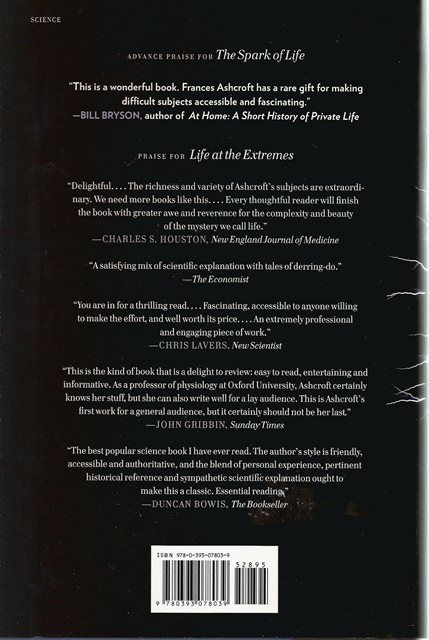 Back cover of The Spark of Life by Frances Ashcroft