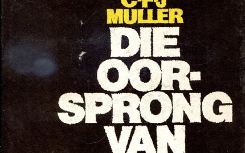 Front cover of Die Oorsprong van die Groot Trek by C. F. G. Muller
