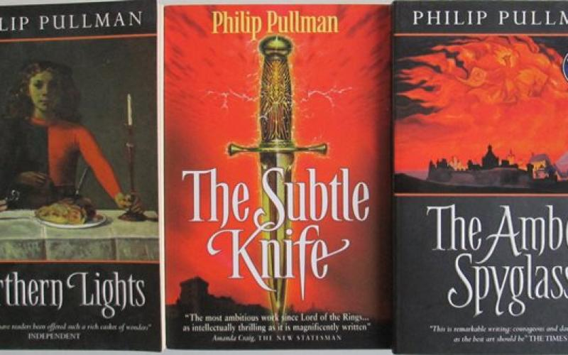 Front covers of His Dark Materials Trilogy by Phillip Pullman