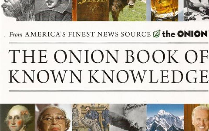 Front cover of The Onion Book of Known Knowledge by The Onion