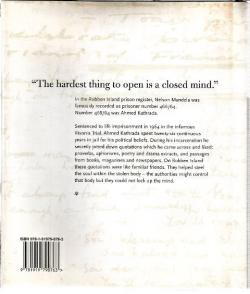 Back Cover of A Simple Freedom by Ahmed Kathrada with Tim Couzens