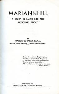Title page of Marianhill: A Study in Bantu Life and Missionary Effort by F. Schimlek