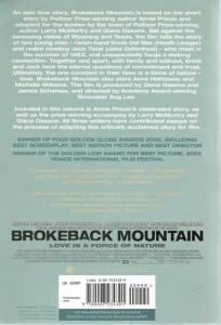 Back cover of Brokeback Mountain by Annie Proulx