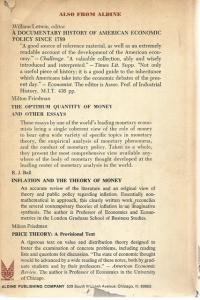 Back Cover of The Economics of Slavery by Alfred H Conrad & John R Meyer