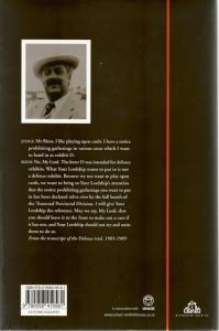 Back Cover of Odyssey to Freedom by George Bizos