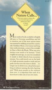 Back Cover of How to Shit in the Woods by Kathleen Meyer