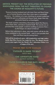 Back cover of The Mayan Secrets by Clive Cussler and Thomas Perry