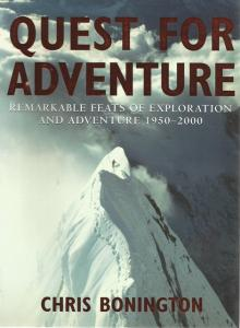 Front Cover of Quest for Adventure by Chris Bonnington