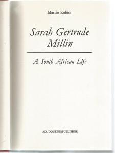 Title page of Sarah Gertrude Millin by Martin Rubin
