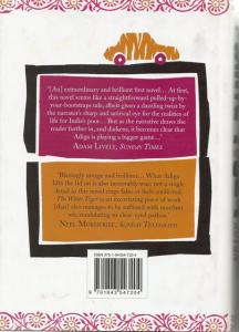 Back cover of The White Tiger by Aravind Adiga