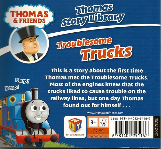 Back cover of Thomas & Friends: Troublesome Trucks by W. Awdry