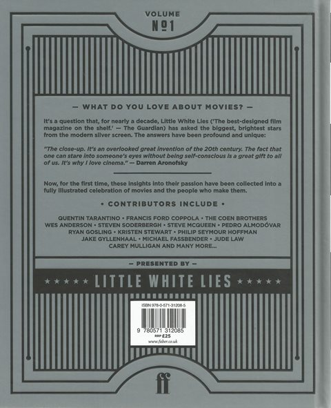 Back cover of What I Love About Movies by Little White Lies
