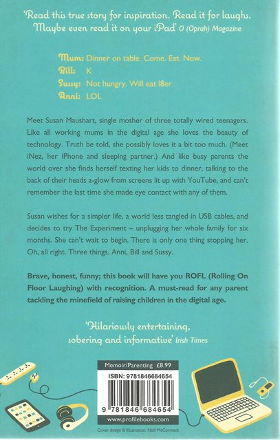 Back cover of The Winter of Our Disconnect by Susan Maushart